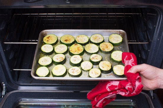 Roast the zucchinis: