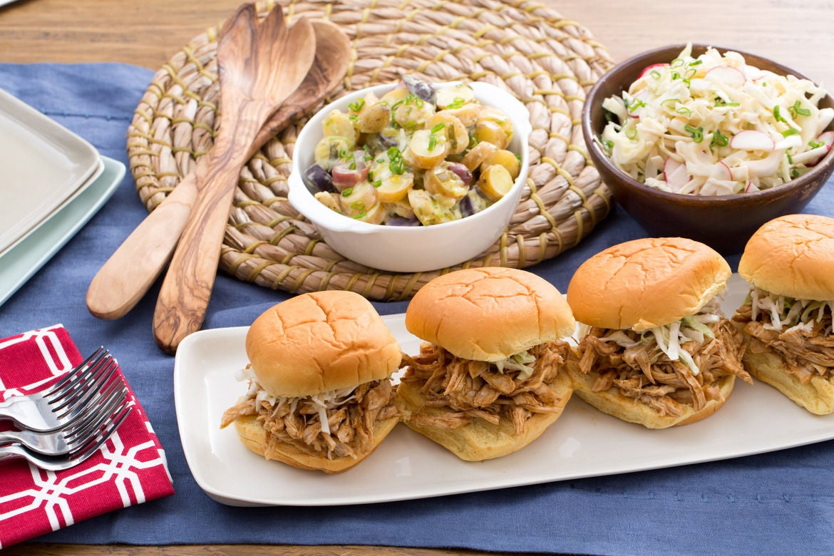 ... BBQ Chicken Sandwiches with Fingerling Potato Salad & Creamy Coleslaw