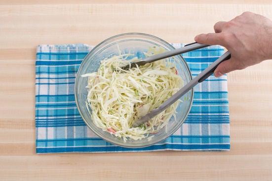 Make the coleslaw: