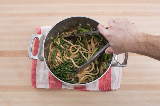Finish the noodles & vegetables: