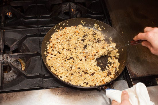 "Cook the cauliflower ""couscous"":"