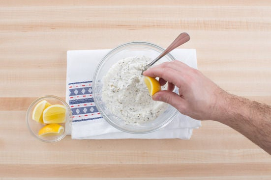 Make the lemon ricotta: