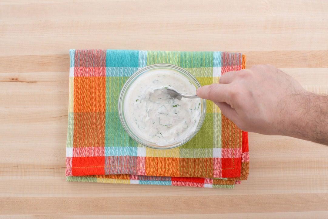 Make the crème fraîche sauce: