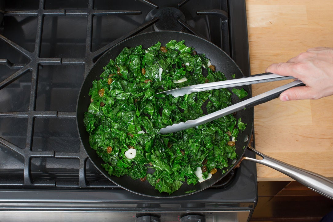 Cook & drain the kale:
