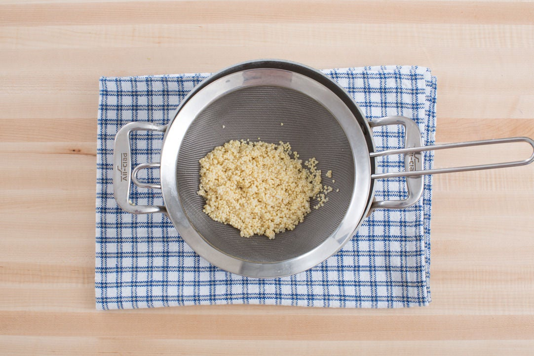 Cook the millet: