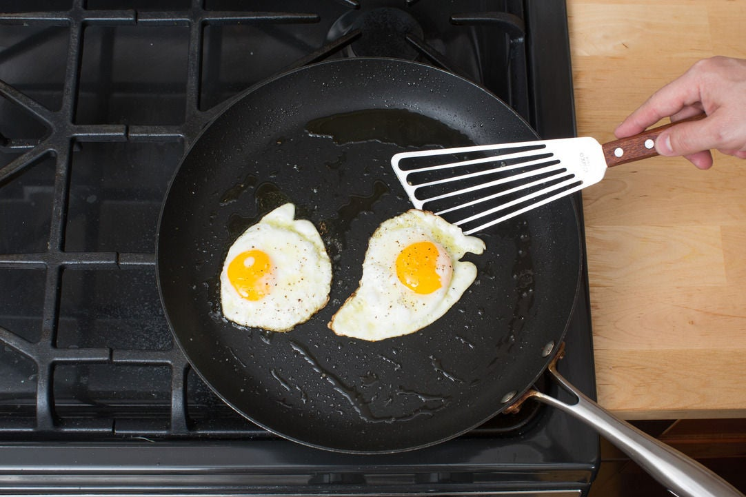 Fry the eggs & finish your dish: