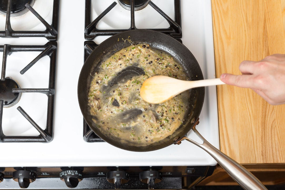 Make the lemon-black pepper sauce: