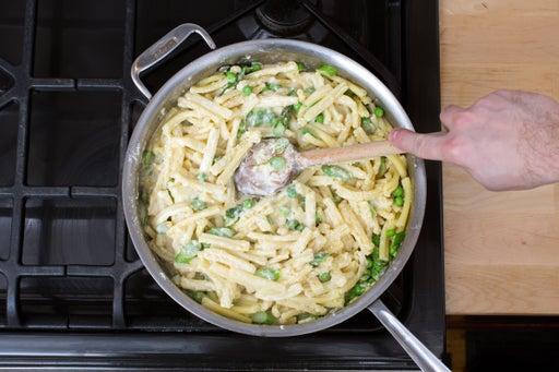 Finish the pasta & sauce: