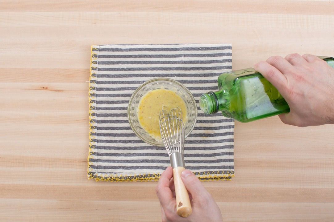 Make the vinaigrette: