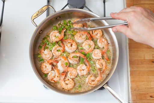Finish the shrimp: