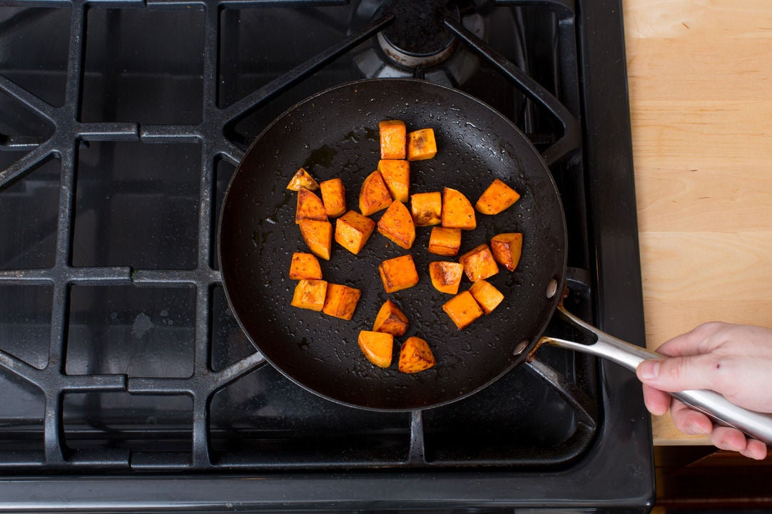 Cook the sweet potatoes: