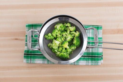 Blanch the broccoli:
