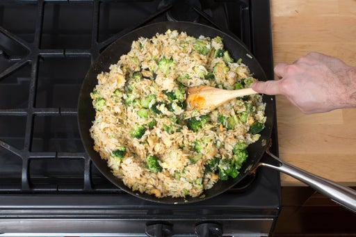 Finish the fried rice: