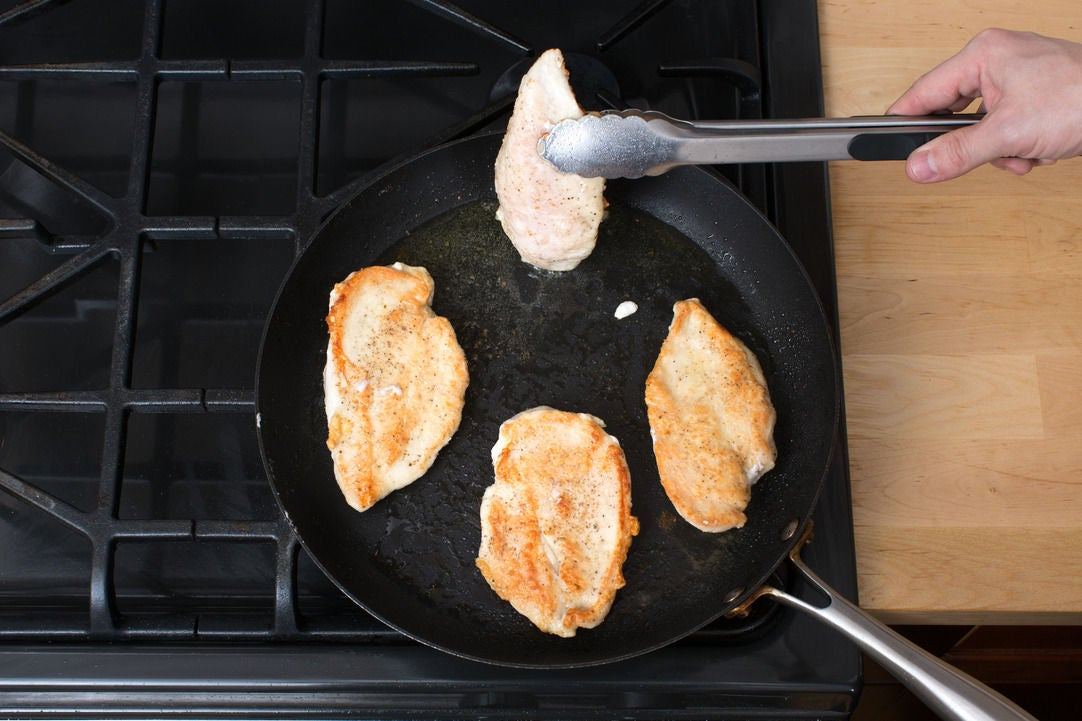 Cook the chicken & serve your dish: