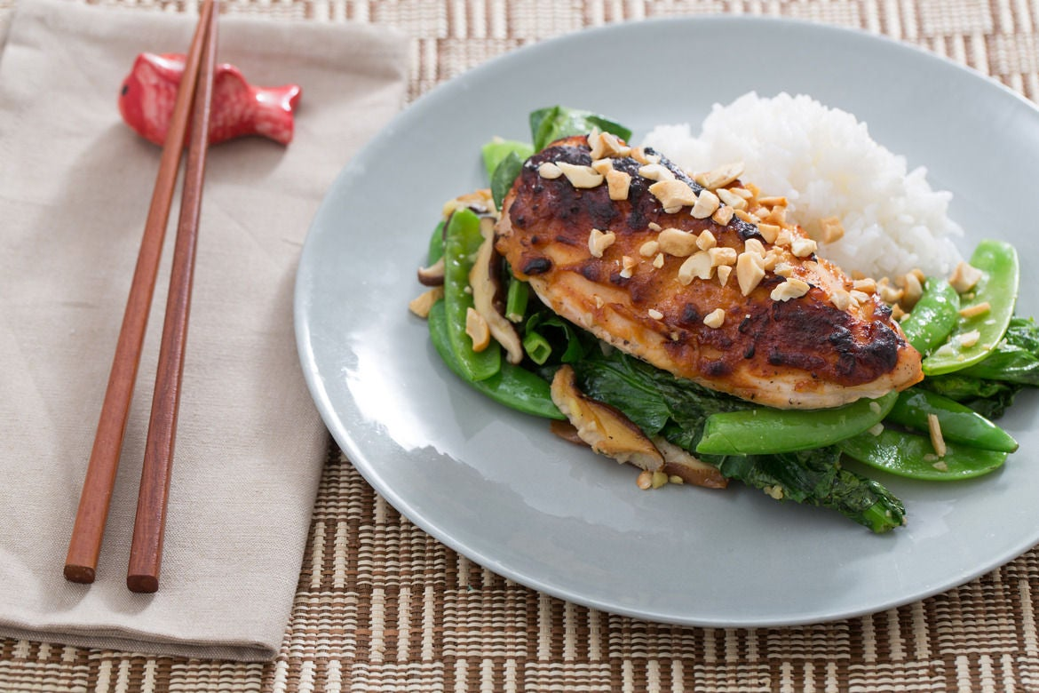 Recipe: Miso Roasted Chicken with Spring Peas & Jasmine Rice - Blue ...