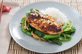 Miso Roasted Chicken with Spring Peas & Jasmine Rice