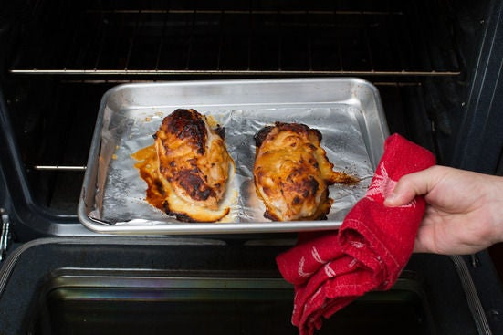 Coat & roast the chicken: