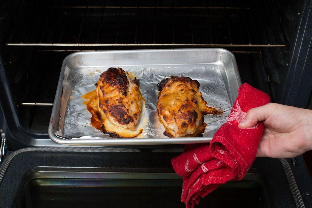 Coat & roast the chicken: