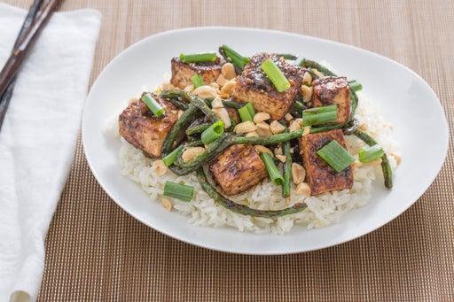 Szechuan Tofu & Long Beans with Jasmine Rice, Peanuts & Bird's Eye Chile