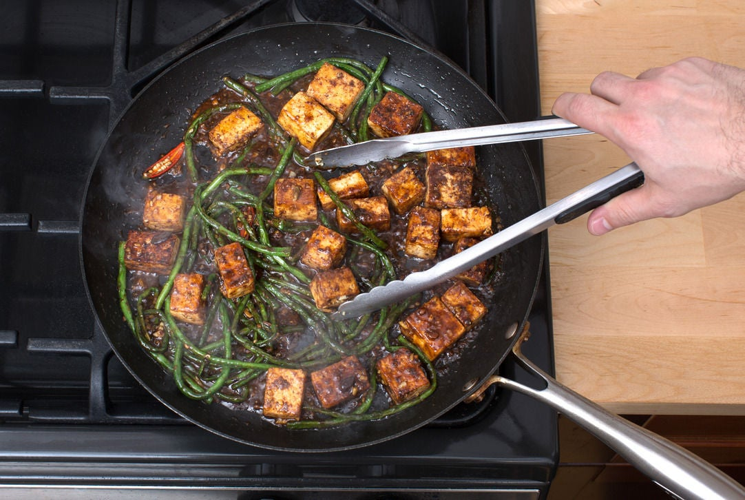 Finish the tofu & long beans: