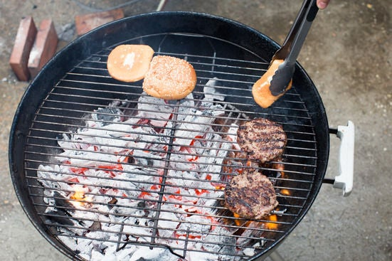 Grill the patties & buns: