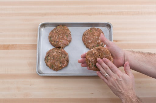 Form the patties: