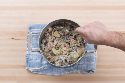Make the potato salad:
