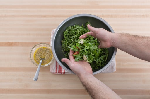 Make the salad: