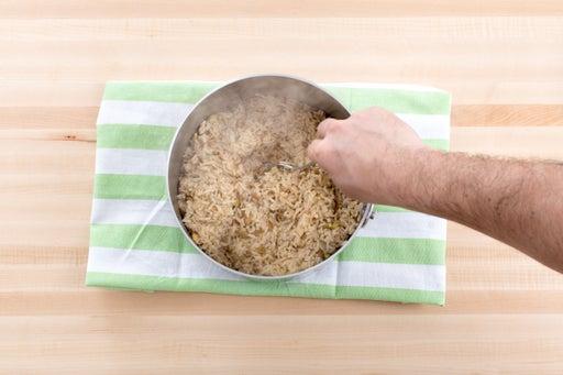 Make the pepita rice: