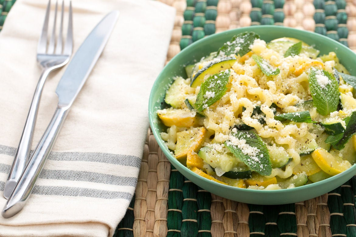 Fusilli Con Buco Pasta with Summer Squash & Mint