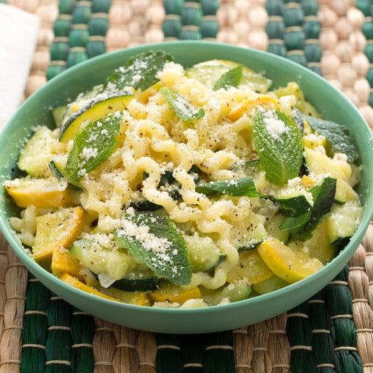 Fusilli Con Buco Pasta with Summer Squash & Mint