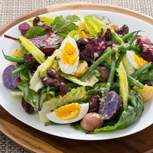 Vegetable Niçoise Salad with Dijon-Tarragon Dressing & Farm Eggs