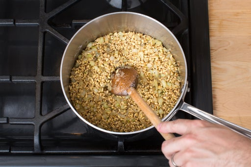 Add the barley:
