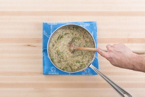 Finish the risotto: