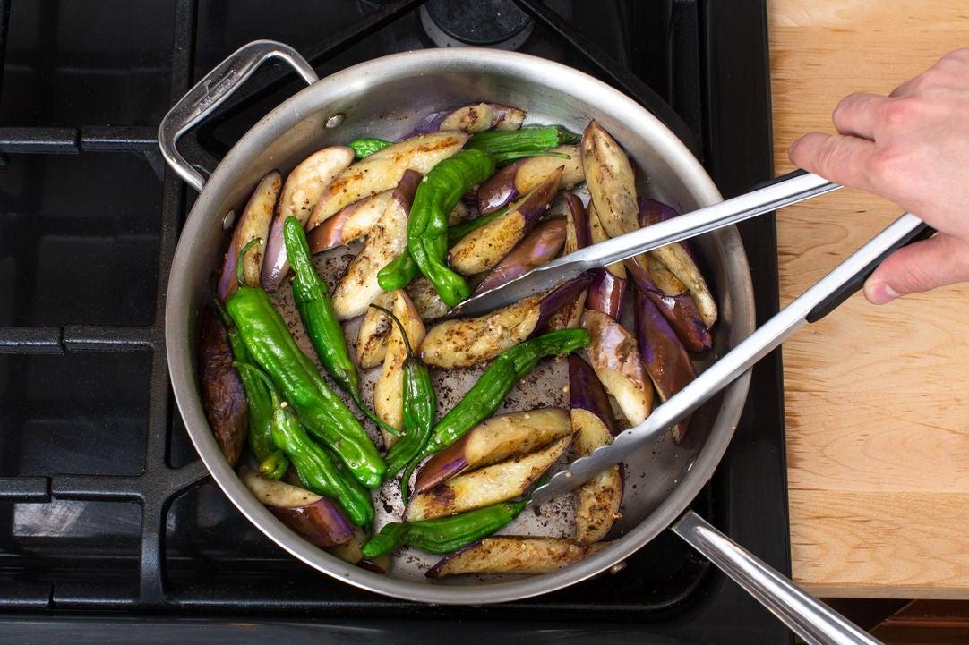 Start the stir-fry: