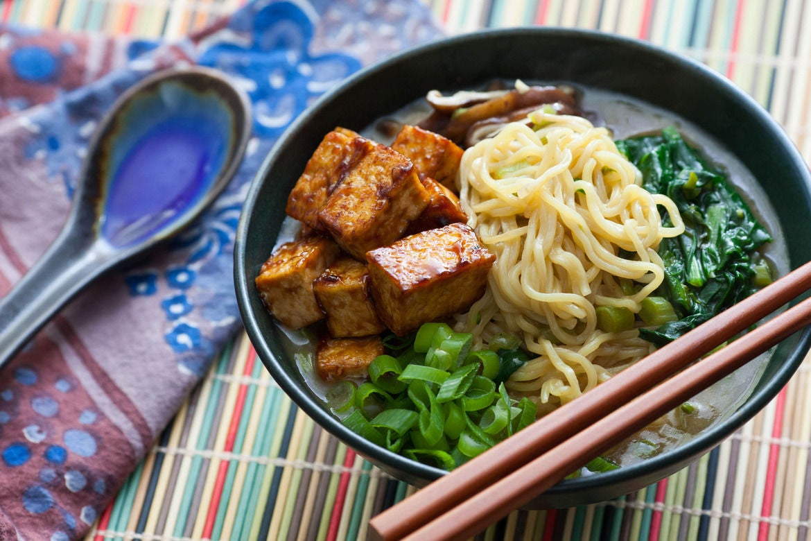 Recipe: Miso & Shiitake Ramen with Hoisin-Glazed Tofu - Blue Apron