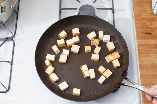 Cook the tofu: