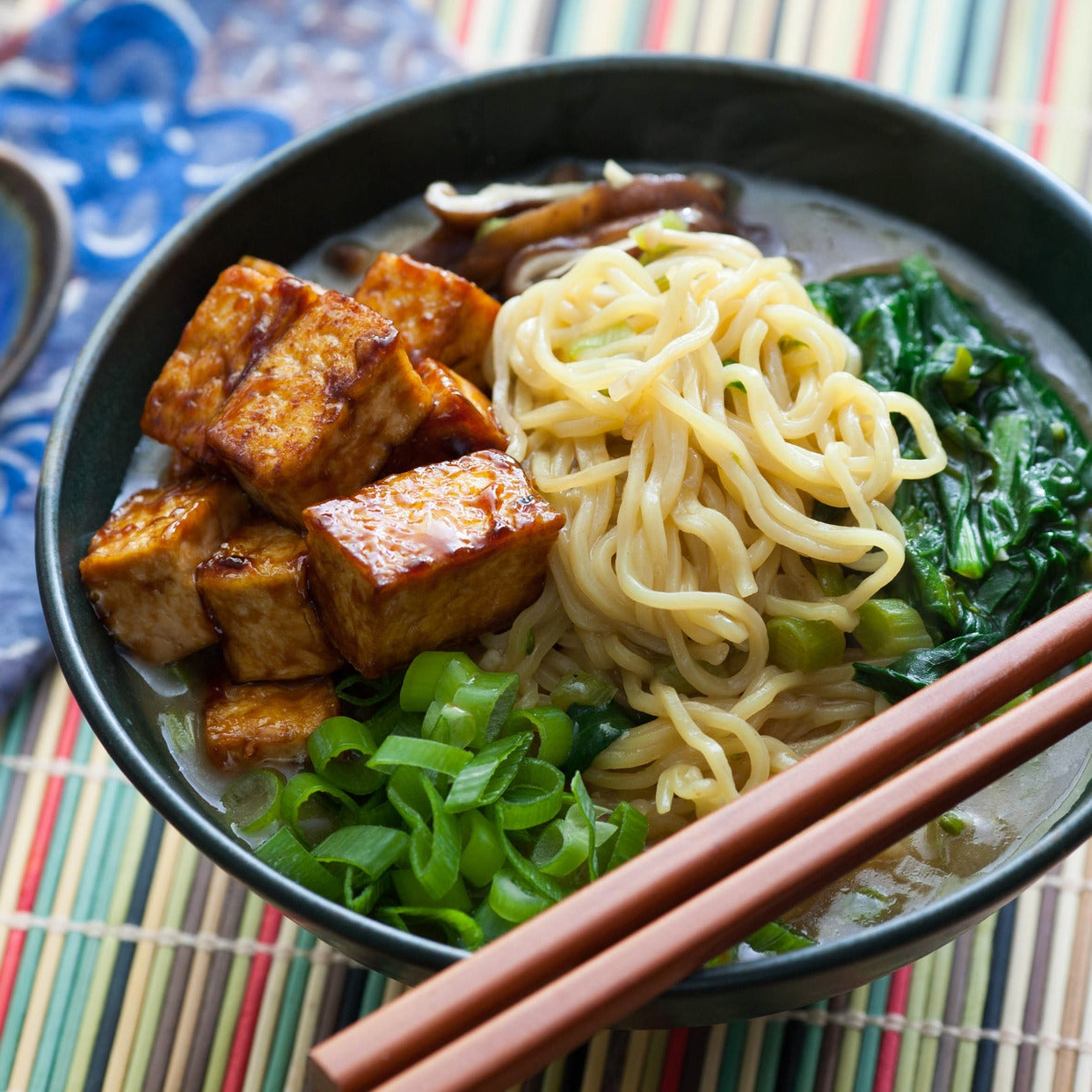Recipe: Miso & Shiitake Ramen With Hoisin-Glazed Tofu