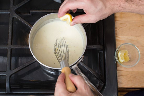 Make the Parmesan sauce: