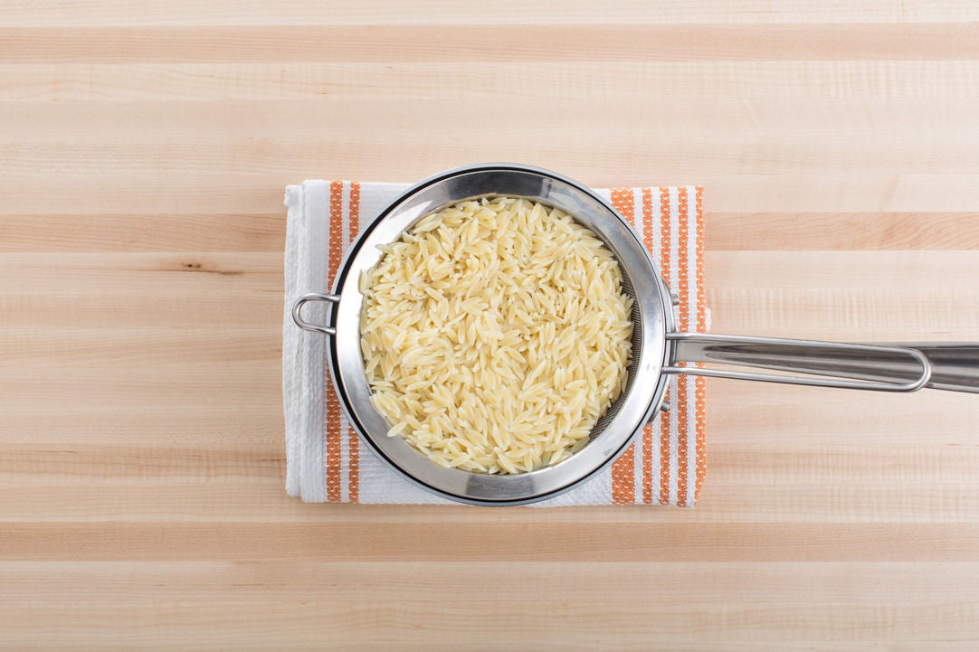 Cook the orzo: