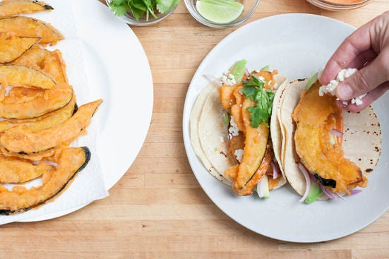 Toast the tortillas & plate your dish:
