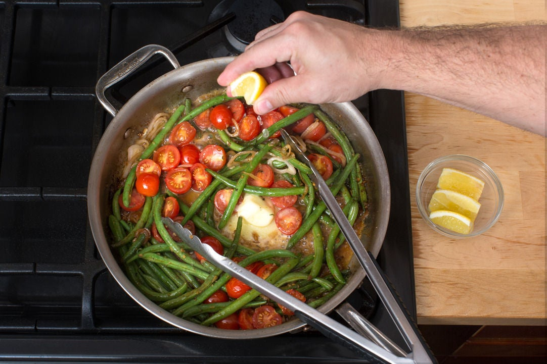 Finish the vegetables: