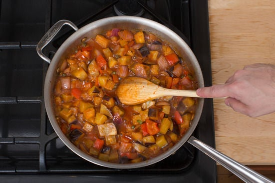 Finish the caponata: