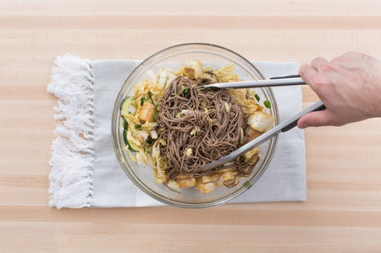 Make the noodle salad: