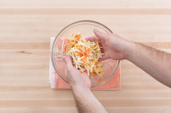 Make the coleslaw & serve your dish: