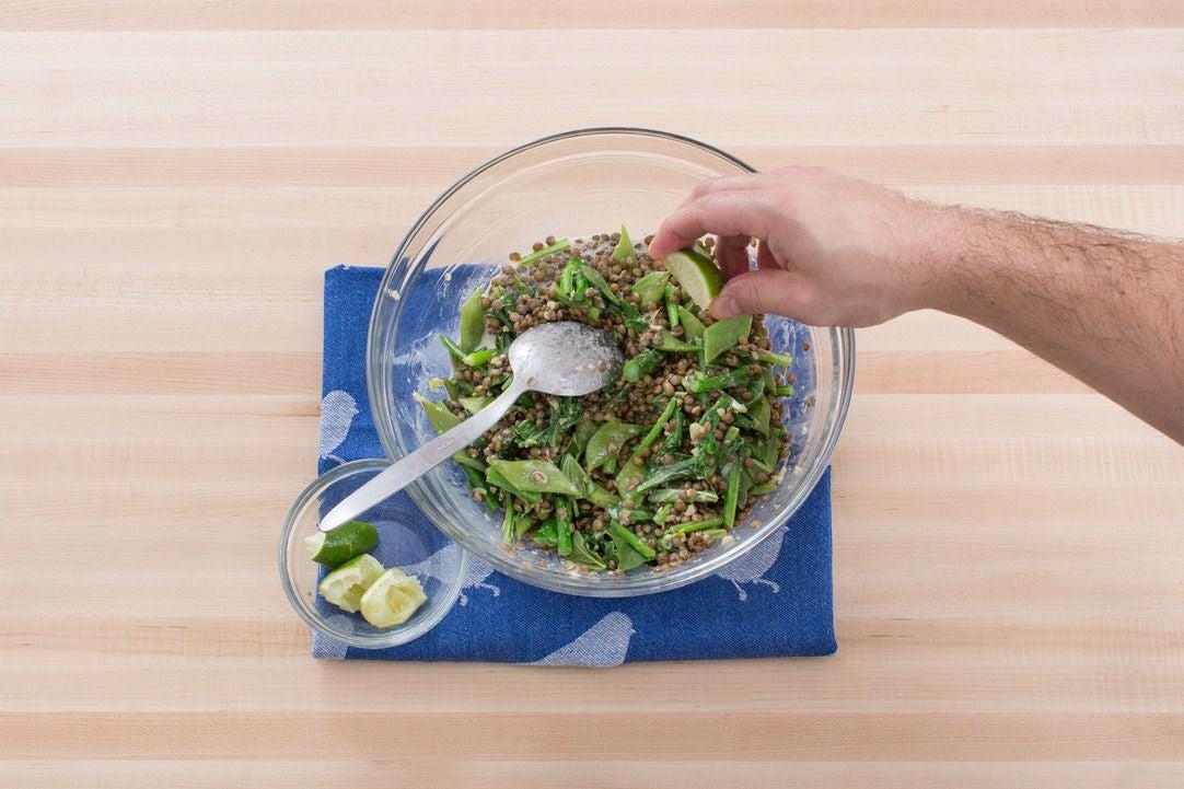 Finish the lentils:
