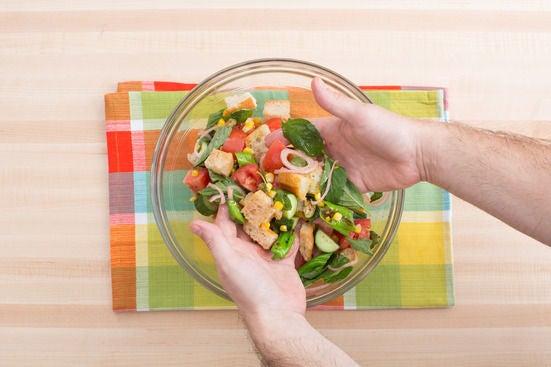 Make the panzanella & plate your dish:
