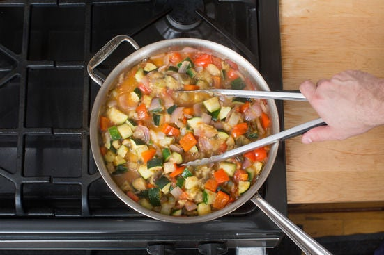Finish the ratatouille: