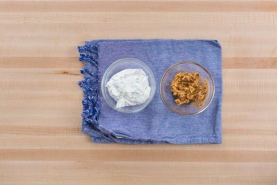 Make the tzatziki sauce & spiced butter: