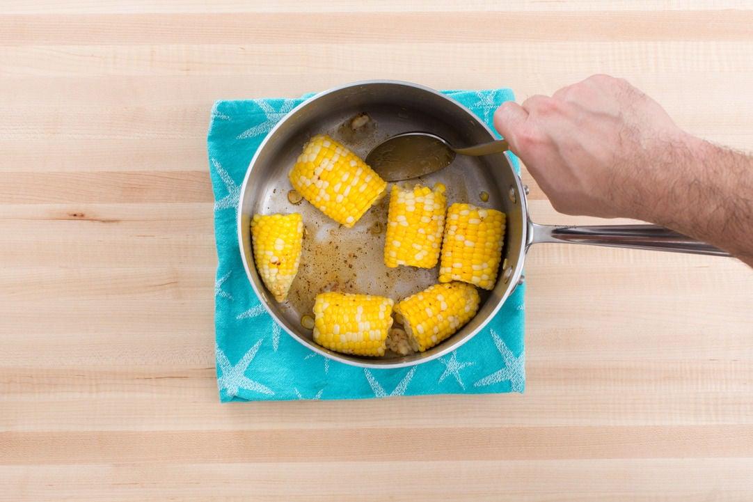 Cook & dress the corn: